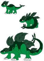 Grass Starter Evolution by DracoDragite