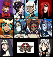 Skullgirls by tehcreechibi