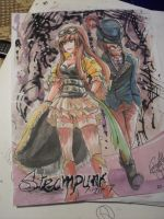 Steampunk APH- Hungary and Austria by MelindaPhantomhive