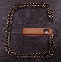 Black and bronze wallet chain by patchwork-steve