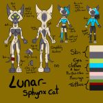 Lunar the Sphynx Cat - Reference sheet by Crystal-WolfDarkness
