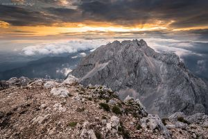 Grintovec summit towards Mt. Kocna by BerarAdrian