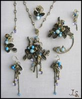 Complete set Garden of emir of Bukhara by JuliaKotreJewelry