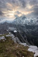 Mt. Triglav, hiding in the clouds. by BerarAdrian