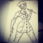 Inktober 2015 Day2 Silent Hill Nurse by Anamated