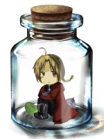 Ed in a bottle by Yabuchin