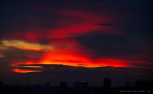 sky on fire by Hendrickson