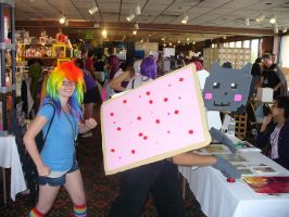 Nyan Cat and Rainbow Dash Crossover by TheWildeOne