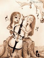 Ladies in cello by MorganBlindness