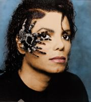 Michael Jackson with spider by mercuryZ