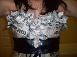 wearable art - yesterdays news by canabalistic-pigeons