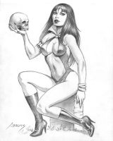 Vampirella and Skull by PaulAbrams