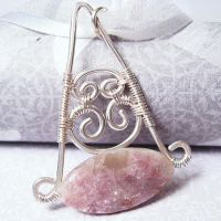 Lepidolite Swing Necklace by Gailavira