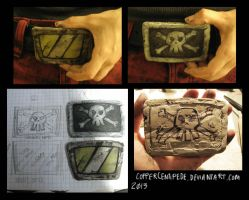 Borderlands Belt Buckles - Psycho and Gunzerker by CopperCentipede
