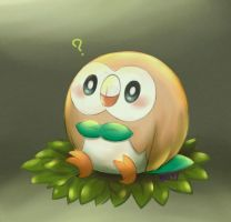 Pokemon : Rowlett by Nillratn