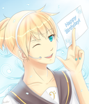 Len Kagamine: Happy Birthday! by Lady-Suchiko