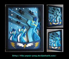 11 x 14 The Wonderbolts Poster Shadowbox by The-Paper-Pony