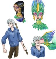 Rise of the Guardians doodles by scaragh