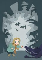 A Girl and Her Monster by nokki