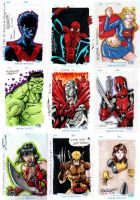 Convention Sketch cards by Ericdimension