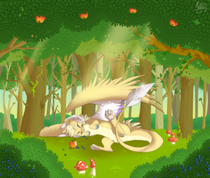 Forest Nap by Insaneus