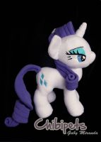 Rarity in fleece custom plush by Chibi-pets