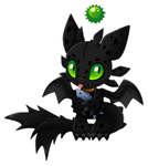 Chao Toothless the Night Fury by Extra-Fenix