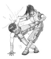 Rock lee vs Sasuke by bishi