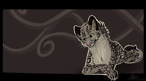 Snow Leopard Wallpaper by BlueGriffyon