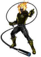 Ghost Rider Yellow Lantern by 666Darks