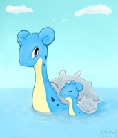 Mother and Child Lapras by Riuku-san