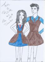 10 and Rose as The Tenth Doctor by Mona-Dakota-Roza