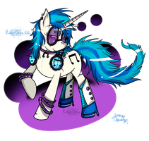 T-shirt Design: Vinyl Scratch by Ruby-Orca-616
