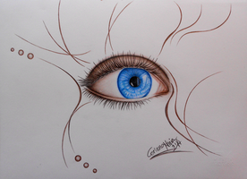 Just a blue eye by CorinnaMariaArt