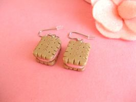 Mini Biscuit Earrings I by sunnyxshine