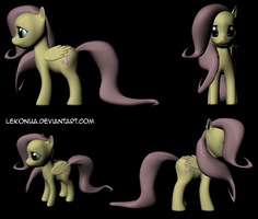 Fluttershy Model Version 2 by Lekonua