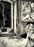 DRAWING WITH GRAPHITE PENCIL by mona-croll