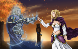 Warcraft: Arthas x Jaina by graypapaya