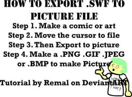 How to export .SWF to Picture File by RemalAtDeviantART