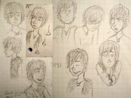 Hiccup - Sketches II by silkenstarrs