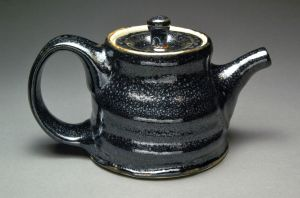 Electric Fired Black Oil Spot Teapot by YuishCeramics