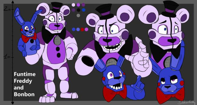 Funtime Freddy reference sheet by SideshowFreddy