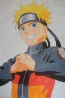 Here we GO! Naruto Uzumaki -colored- by SakakiTheMastermind