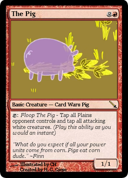 Magic the Gathering: The Pig by H.G. Giese by Ourobouros434