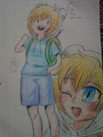 AT/HDA: Finn The Human in my AT/Anime Stiyle by AbytaXlovE
