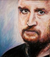 Louis CK Art by poopsmith1