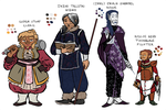 DnD 5e characters color by Teela-B