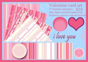 424 Valentine card set by Tigers-stock