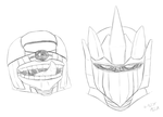 Psylo and Evalor headshot roughs by AB0180