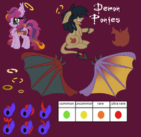 Corrupted Contracted Demon Pony Species INFO by LieutenantKyohei